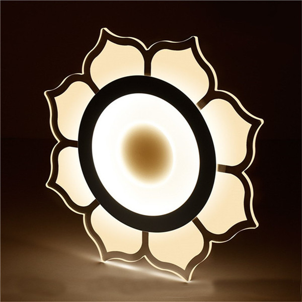 15W Modern Flower Acrylic LED Ceiling Lights Living Room Bedroom Home Lighting Lamp AC220V