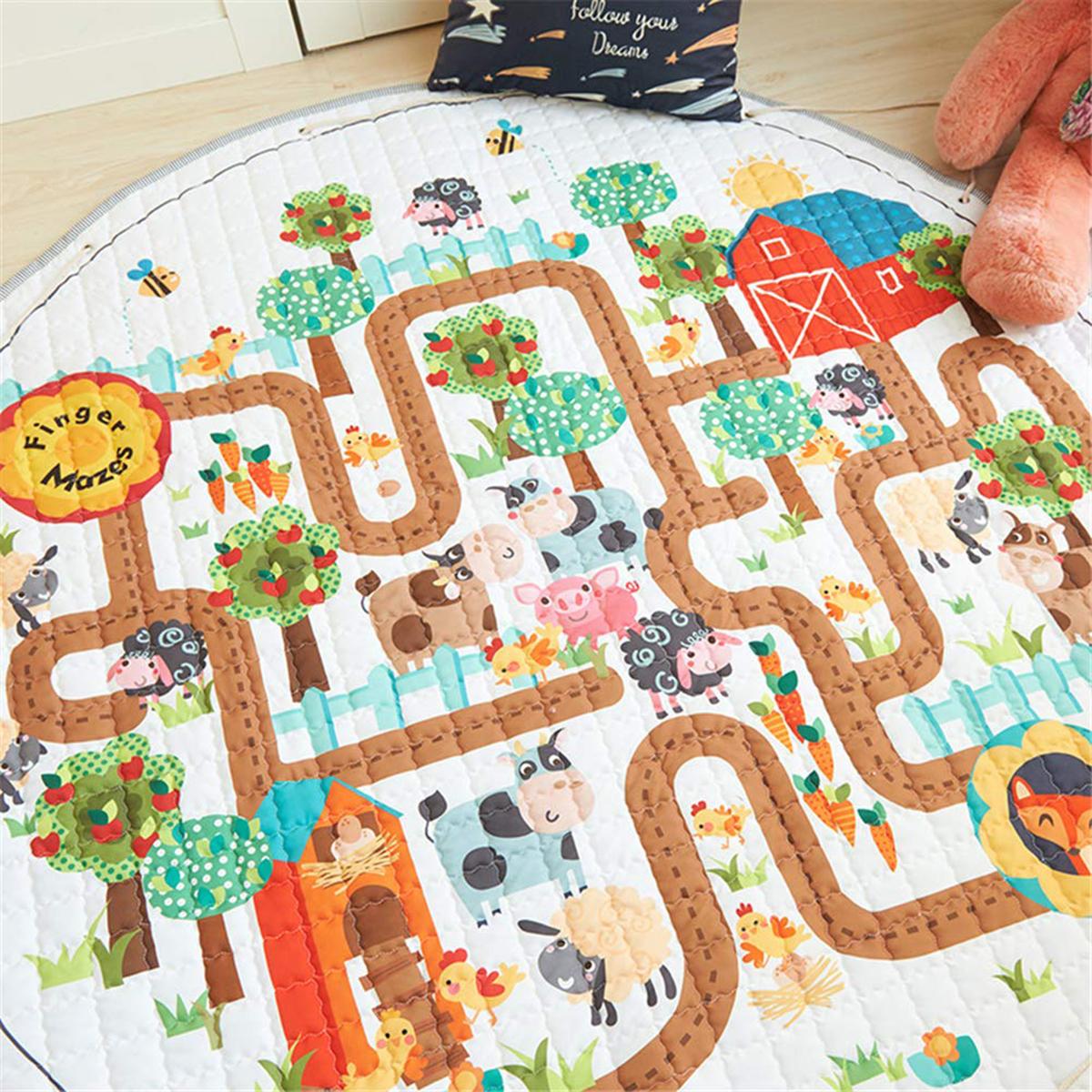 1.45M Gym Baby Play Mat Crawling Blanket Home Large Storage Rug Groundhog Floor Baby Crawling Rug