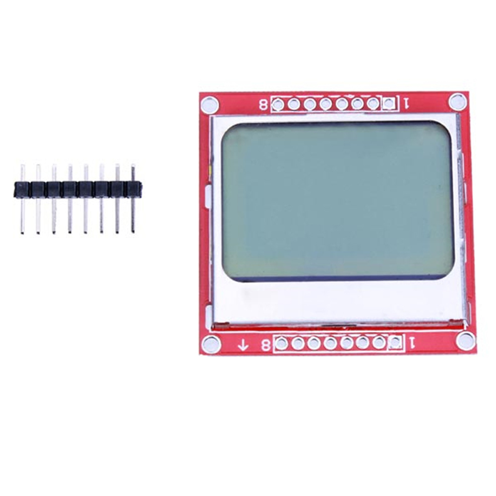 2pcs 5110 LCD Display Module White Backlight For Arduino