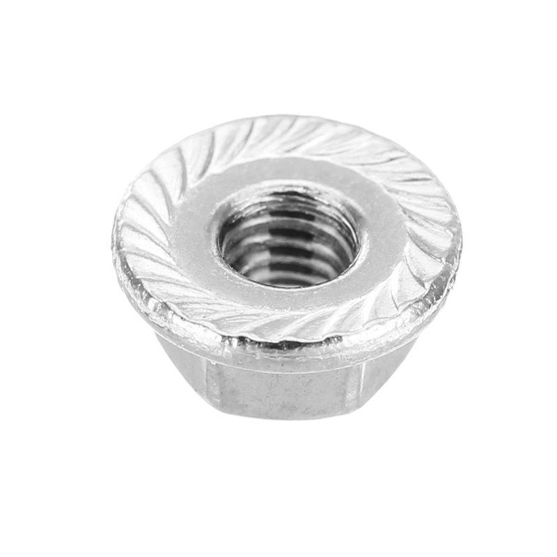 Suleve™ M3SN5 50Pcs M3 304 Stainless Steel Hex Serrated Flange Lock Nuts