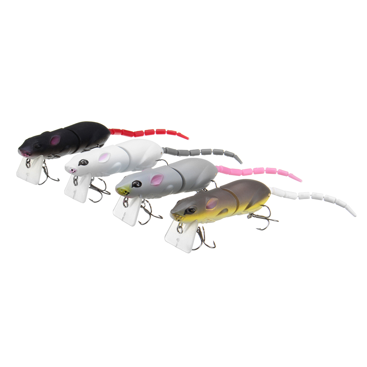 25cm 15.5g Jointed Rat Fishing Lure Mouse Floating Crankbait Sea Topwater 3D Eyes Artificial Baits