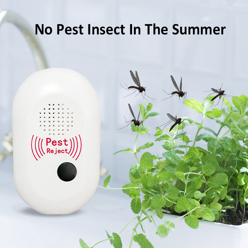 Electronic Ultrasonic Anti Mosquito Insect Pest Mouse Dispeller US Plug for Home Kitchen Garden