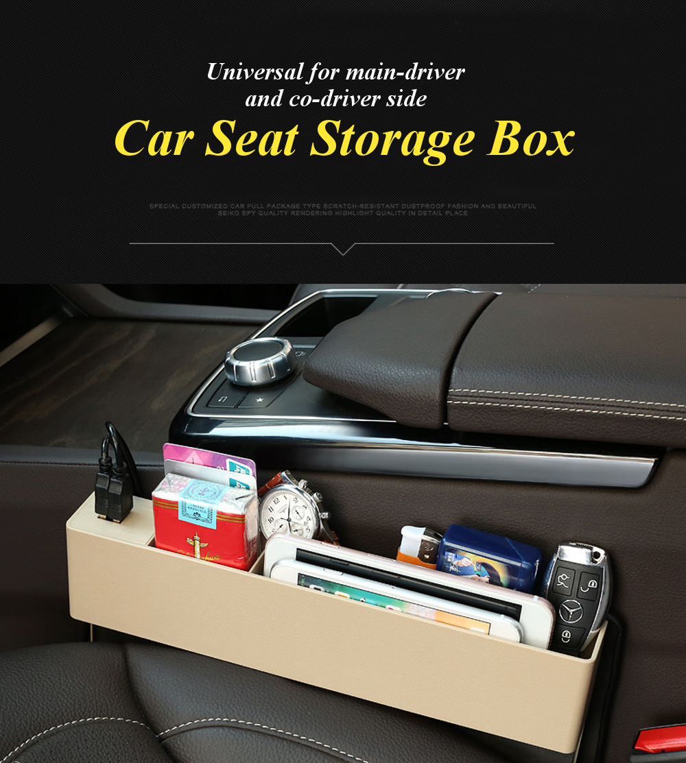 Storage Box Betwen Driver And Front Seat In Car