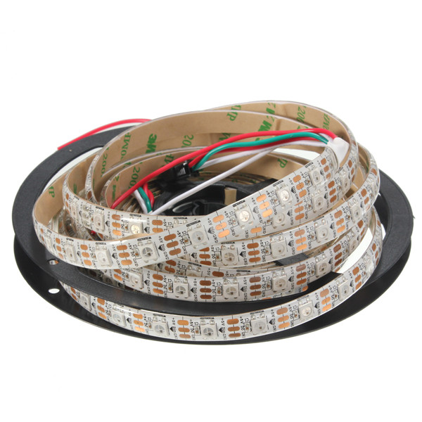 5M 90W 300SMD WS2812B LED RGB Colorful Strip Light Waterproof IP65 White/Black PCB DC5V