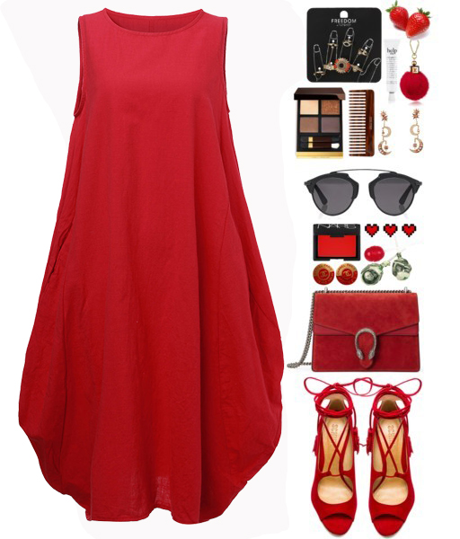 Asymmetrical Solid Color Sleeveless Pocket Cotton Dress
