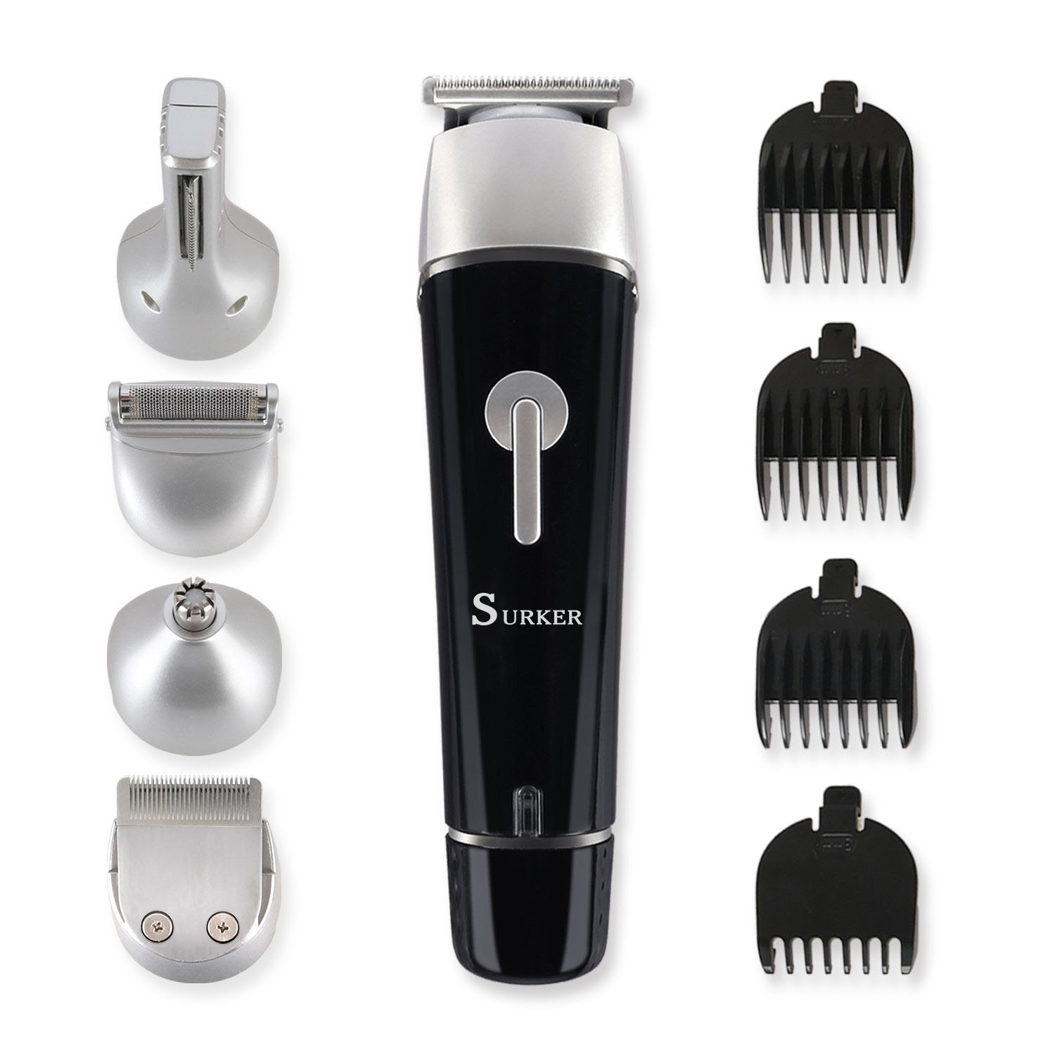 Surker 5 in 1 Multifunctional Electric Hair Clipper Beard Trimmer Rechargeable Epilator Waterproof