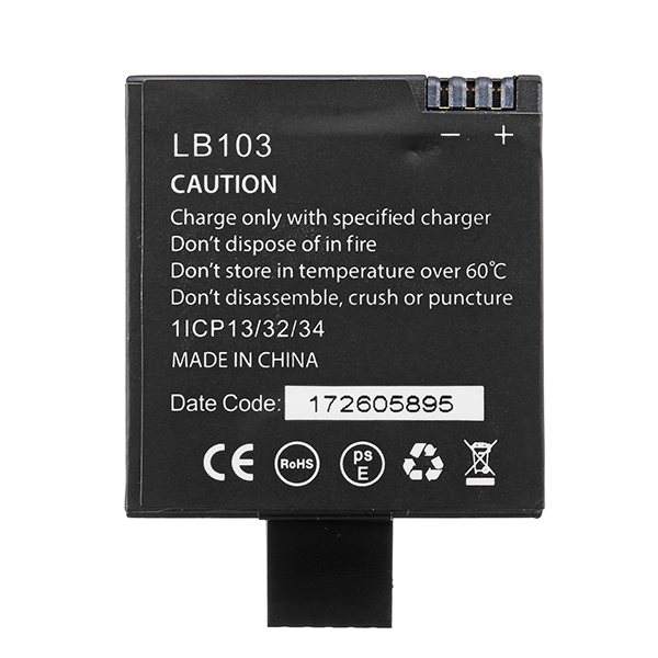 LB103 Rechargeable Li-ion Spare Battery 1200mAh for Gitup G3 Duo Sport Action Camera