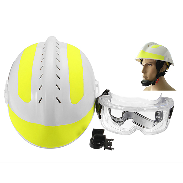 300*240mm Rescue Helmet Fire Fighter + Protective Glass