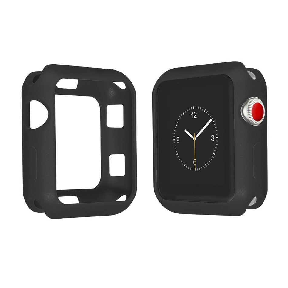 Bakeey 40mm/44mm Silicone Soft Monochrome Case Watch Cover for Smart Watch Apple Watch Series 4
