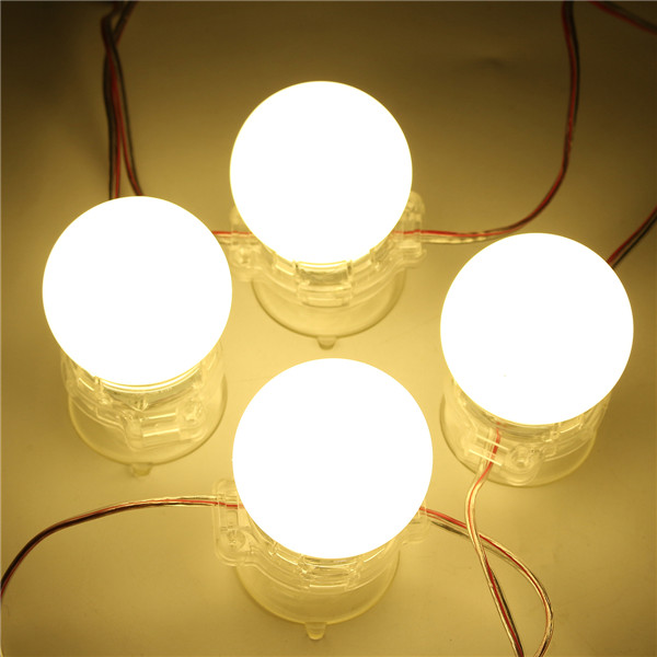 4Pcs Makeup Mirror Vanity LED Light Bulbs LED Gadgets Kit for Dressing Hollywood Super Star