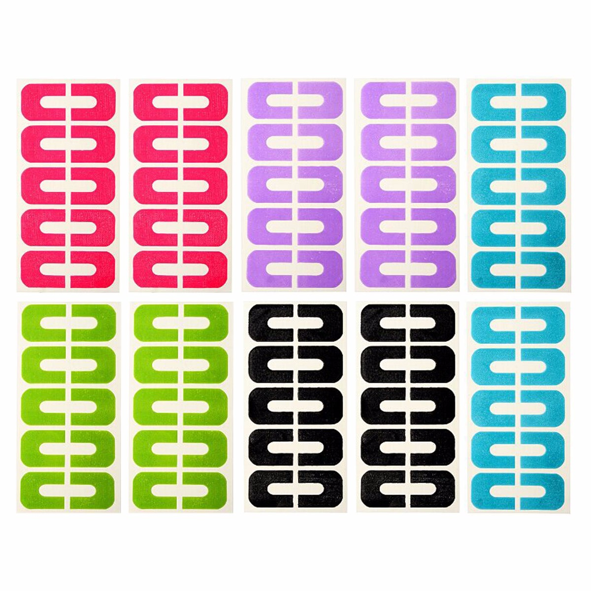 50pcs Peel Off Tape Nail Protector for Nail Art Painting Polish UV Gel Stamping Plate Tools