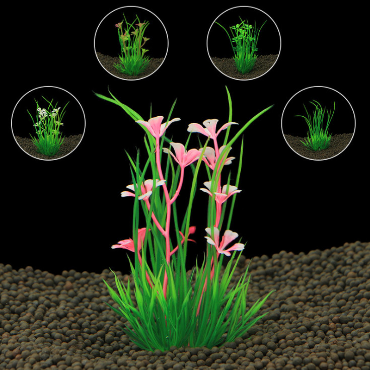 Artificial Plastic aquarium plants Grass for aquarium background FishTank Ornament Decorations