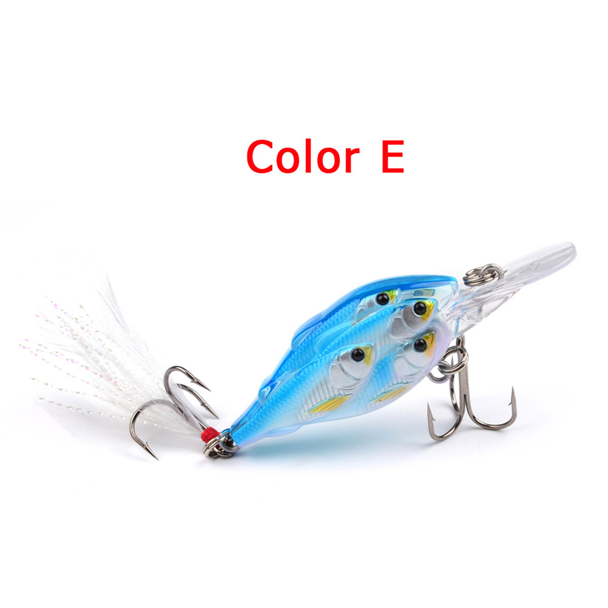 ZANLURE 5Pcs/Set 7cm 6.2g Fishing Lure Crankbaits Hook Fish Crank Tackle Lipless Swimbait Hard Lures