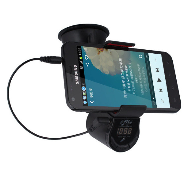Oupin FM800 Car MP3 Multifunction Music Player FM Transimittervs Phone GPS Holder Hands Free Cell Phone