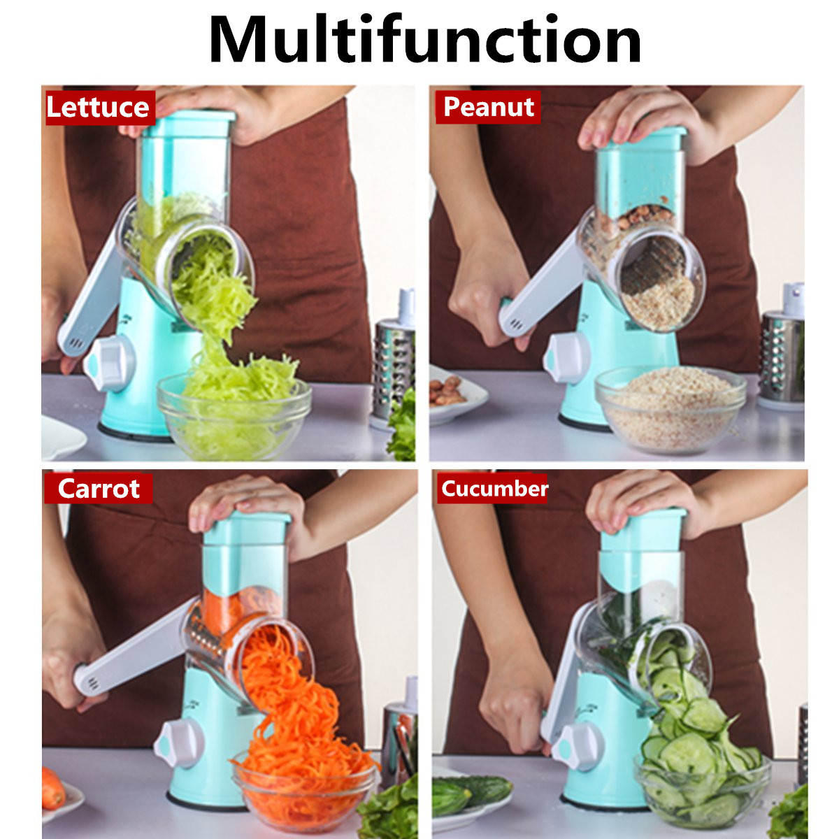 Manual Vegetable Potato Roller Cutter Stainless Steel Blade Kitchen Slicer Roller Cutting Machine