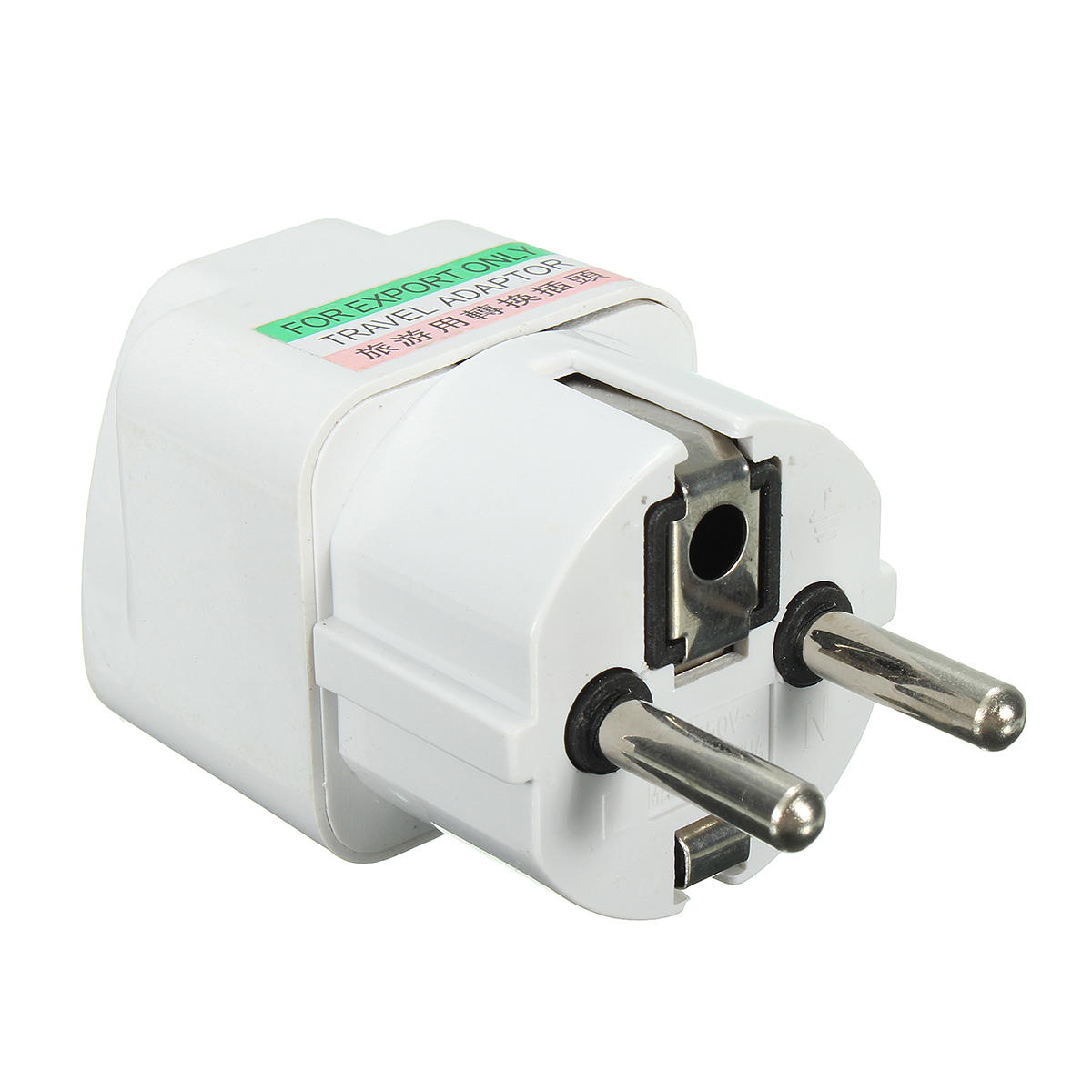 AC 250V 10A Universal UK US AU to EU Travel Power Adapter Wall Plug Converter White