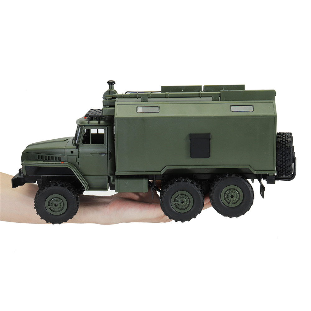 WPL B36 Ural 1/16 2.4G 6WD Rc Car Military Truck Rock Crawler Command Communication Vehicle RTR Toy