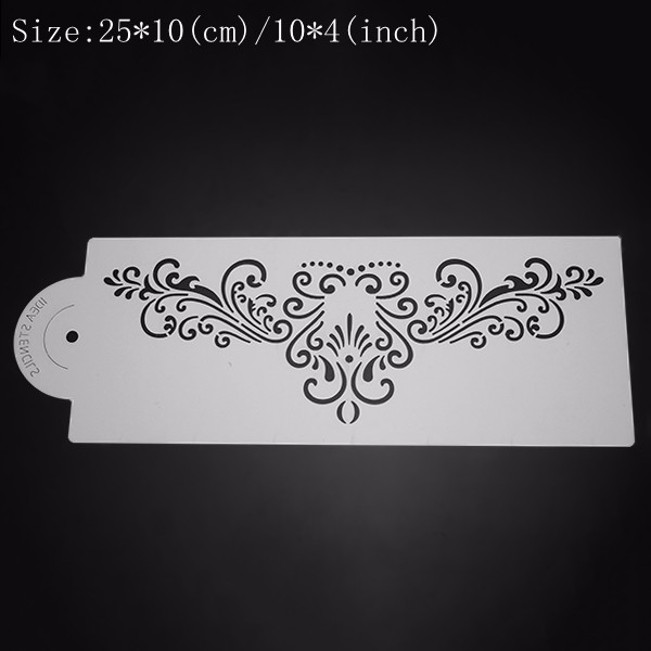 5Pcs Plastic Cake Stencil Cookie Biscuit Fondant Stencil Wedding Cake Decorating Tool