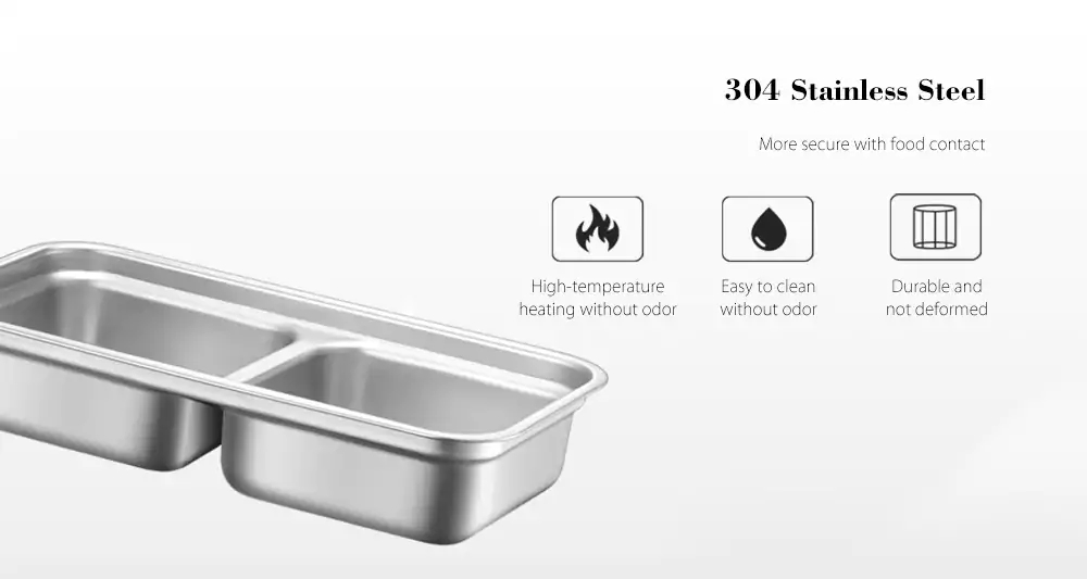 Bear BFH-B10J2 Electric Heating Lunch Box 270W/0.5L Double Layer 1 Person Plugged In To Heat Preservation Cooking From Xiaomi Youpin