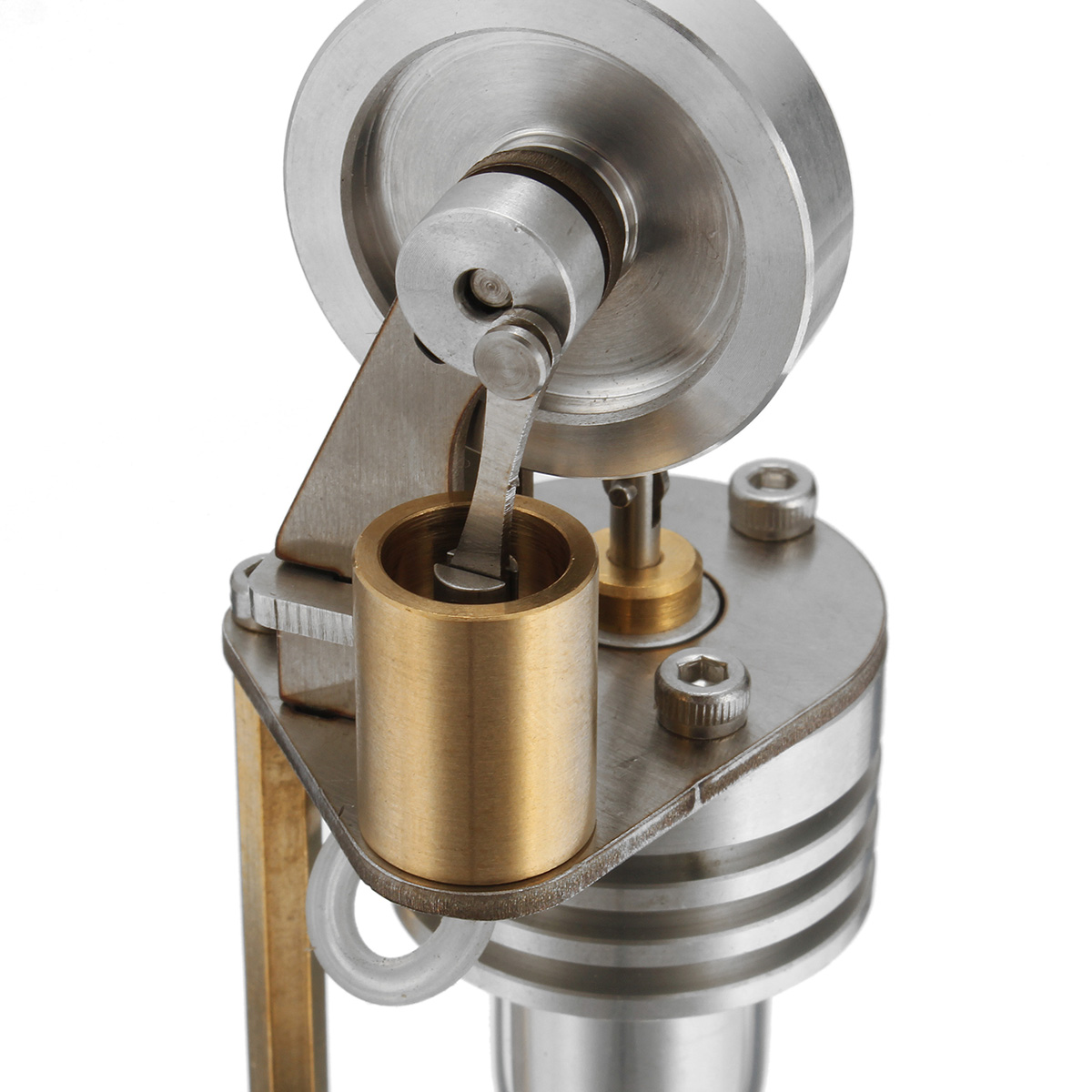 Mini Hot Air Vertical Stirling Engine Motor Model Electricity Generator Science Educational Toys