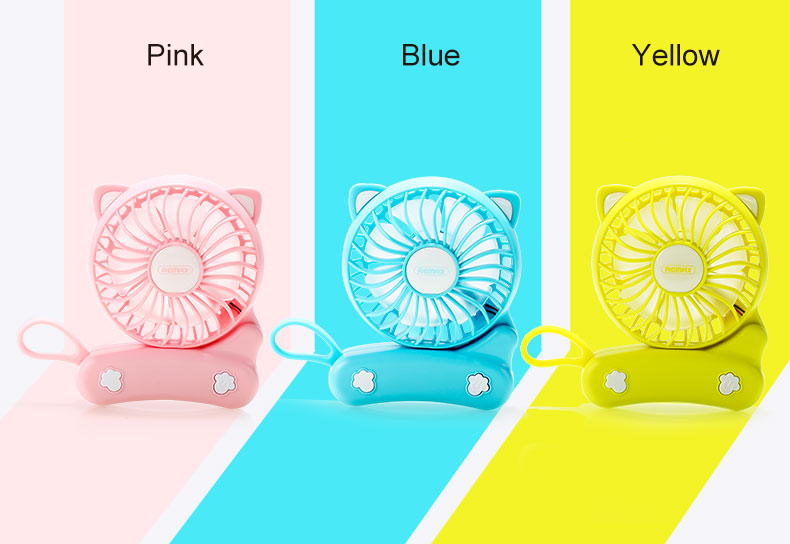 Remax Summer Rechargeable Foldable Mini Cat Cooling Fan Portable USB Charge Hand-held Cool Fan
