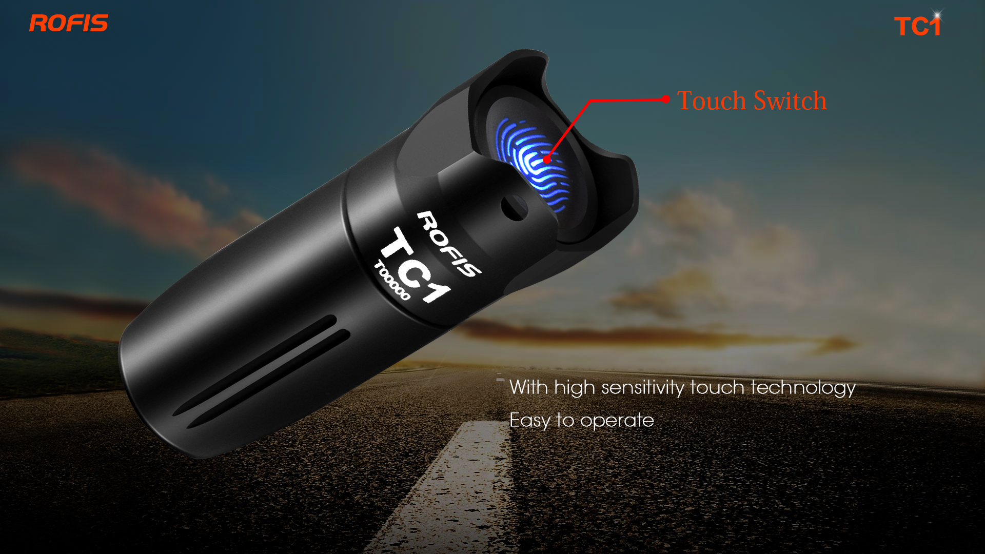 Rofis TC1 XP G3 3 Modes 120Lumens USB Rechargeable Touch Switch Control Mini EDC Flashlight