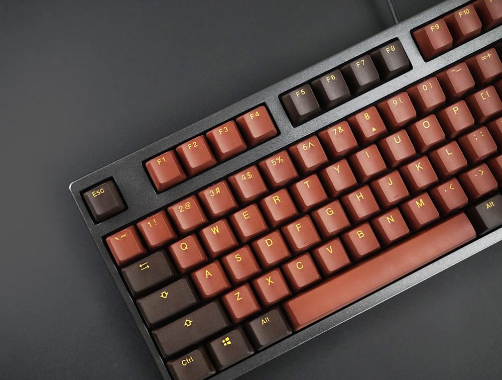 Akko X Ducky 108 Key OEM Profile PBT Chocolate Keycaps Keycap Set for Mechanical Keyboard