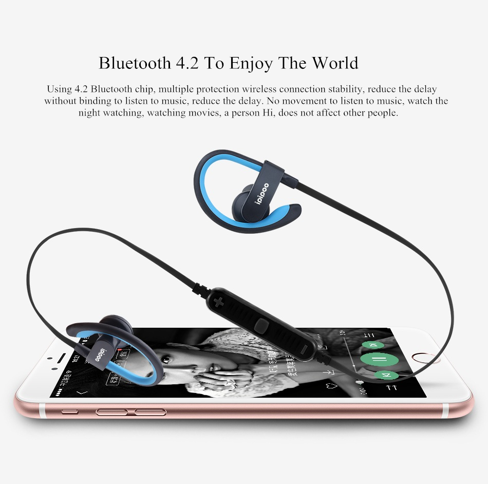 Ipipoo IL98BL bluetooth 4.2 Wireless Magnetic Sport Earphone Earbud with Microphone Volume Control