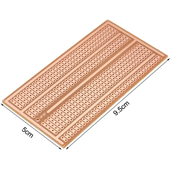 1pcs 5X10cm Single Side Copper Prototype Paper PCB Breadboard 2-3-5 Joint Hole