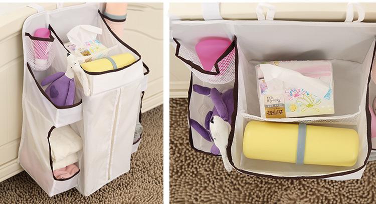 Waterproof Diapers Big Spece Organizer Baby Bed Hanging Bag Portable Storage Bags
