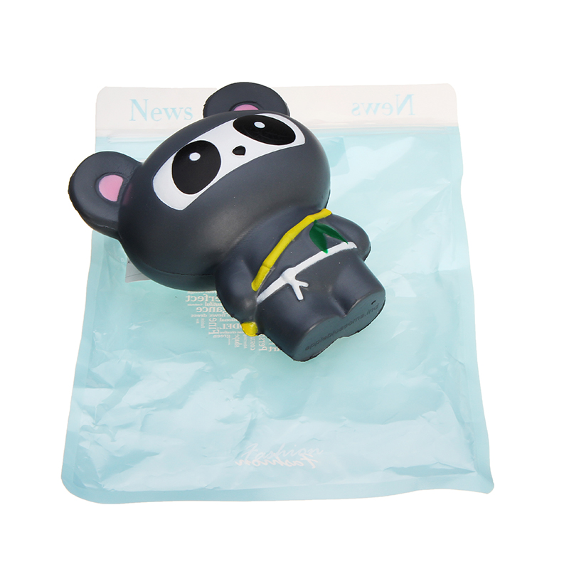 Squishy Grey Bear 13cm Panda Ninja Suit Soft Slow Rising With Packaging Collection Gift Decor Toy