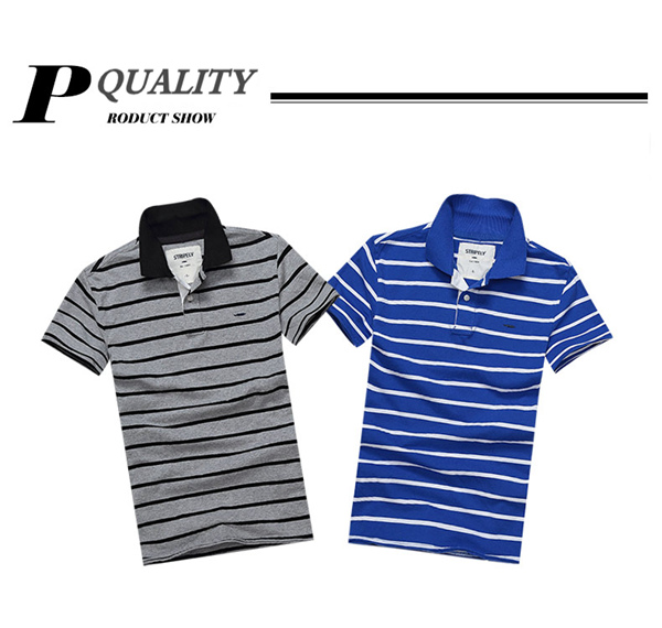Striped Polo Cotton T Shirts Men Summer Short Sleeve Tees