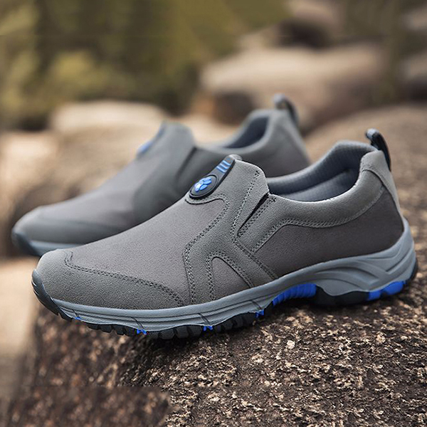 Men Soft Outdoor Hiking Wear Resistance Outsole Slip On Sneakers