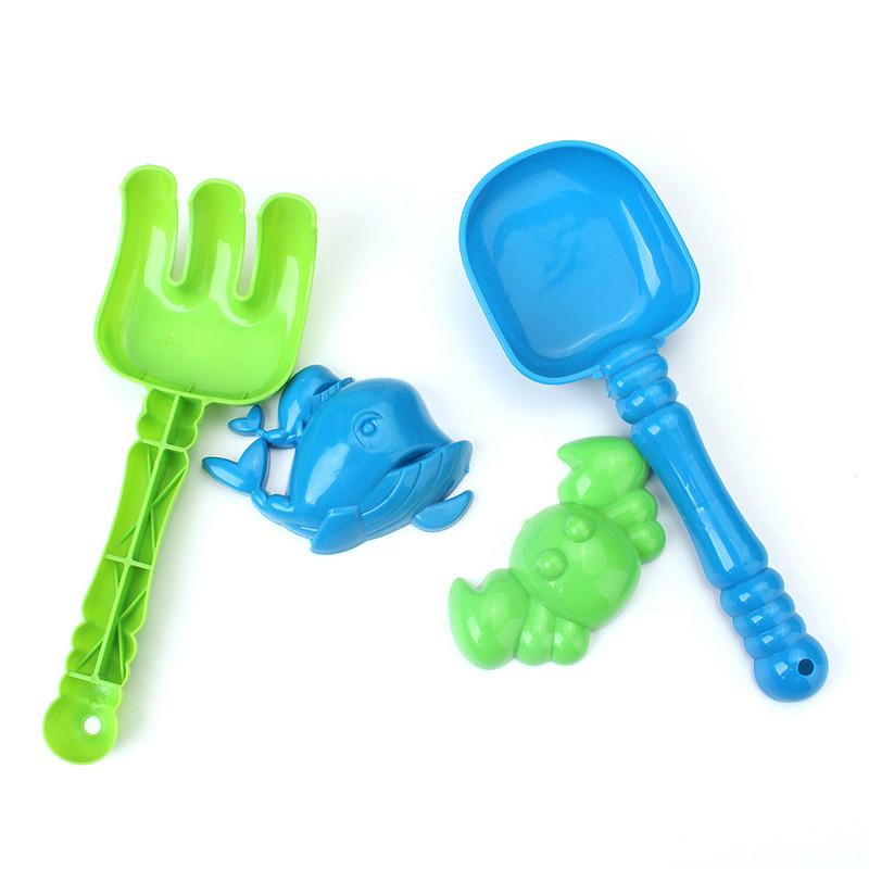 5 Pcs Kids Seaside Beach Toy Plastic Shovel Spade Sand Castle Pit Water Toy
