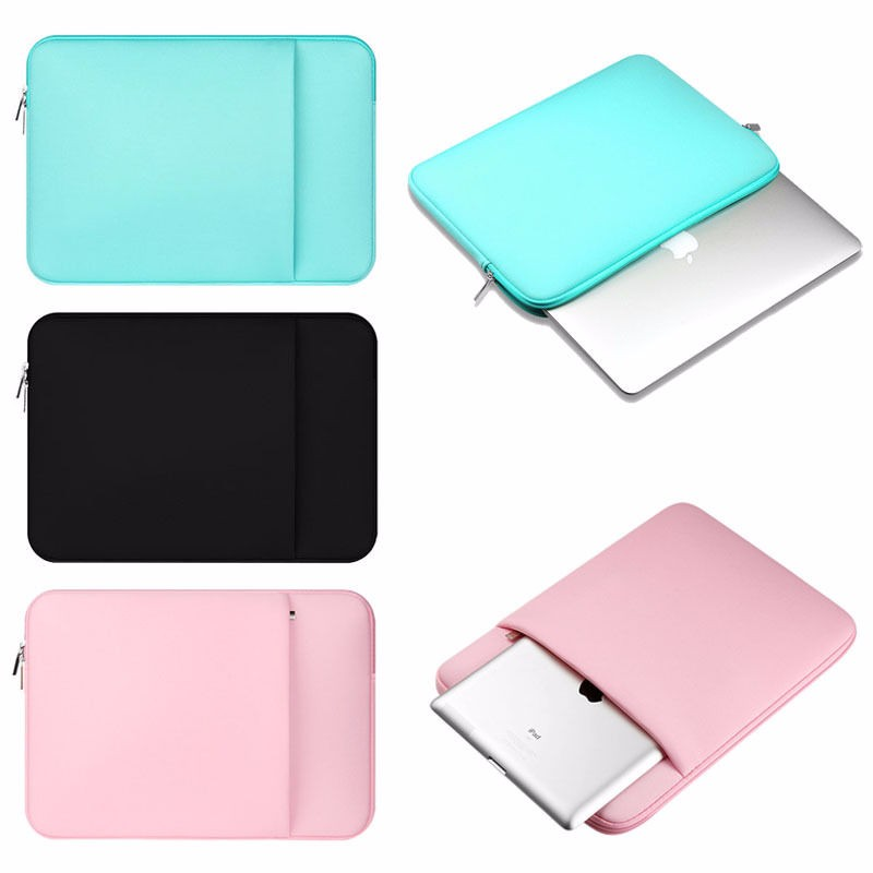 Soft Sleeve Laptop Carry Bag Case Zipper Bags For Apple Macbook Air/Pro/Retina 15.6