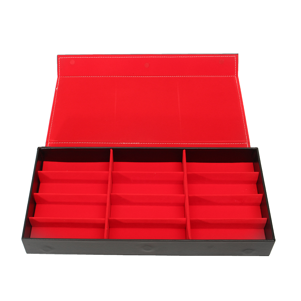 12 Slot Grid Eyeglass Display Storage Stand Case Box Holder Sunglasses Glasses