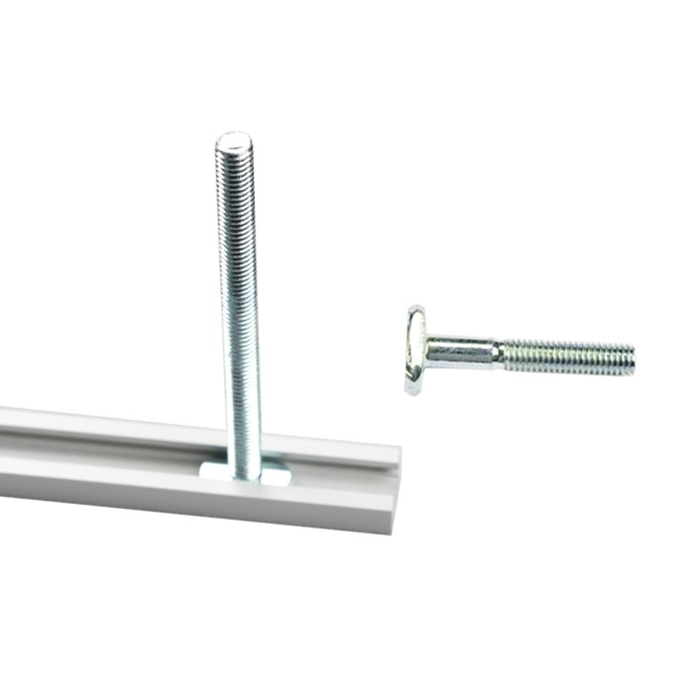 Drillpro 300-1220mm T-track T-slot Miter Track Jig T Screw Fixture Slot 19x9.5mm For Table Saw Router Table Woodworking Tool