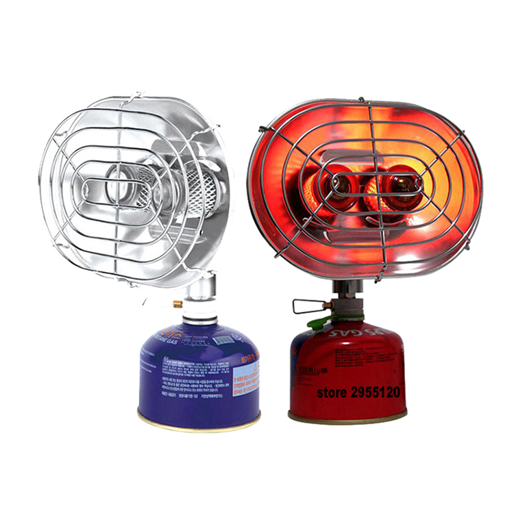 BRS-H22 Portable Gas Heater Outdoor Camping Fishing Warmer Double Burners Heating Stove