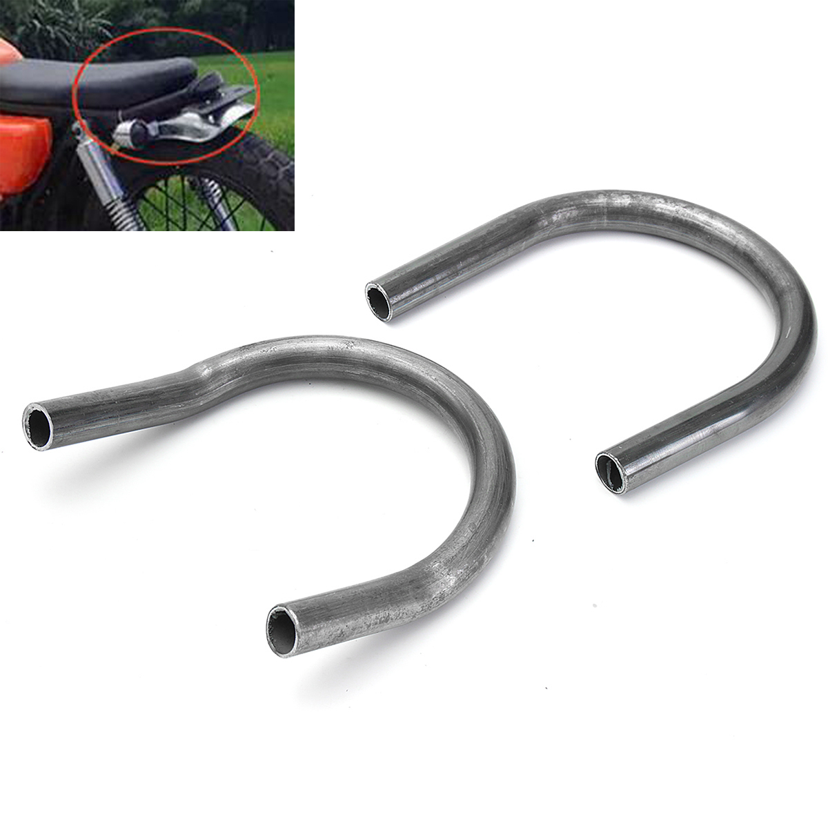 Motorcycle Retro Rear Upswept/Flat Seat Loop Frame Hoop For Yamaha/Suzuki/Honda