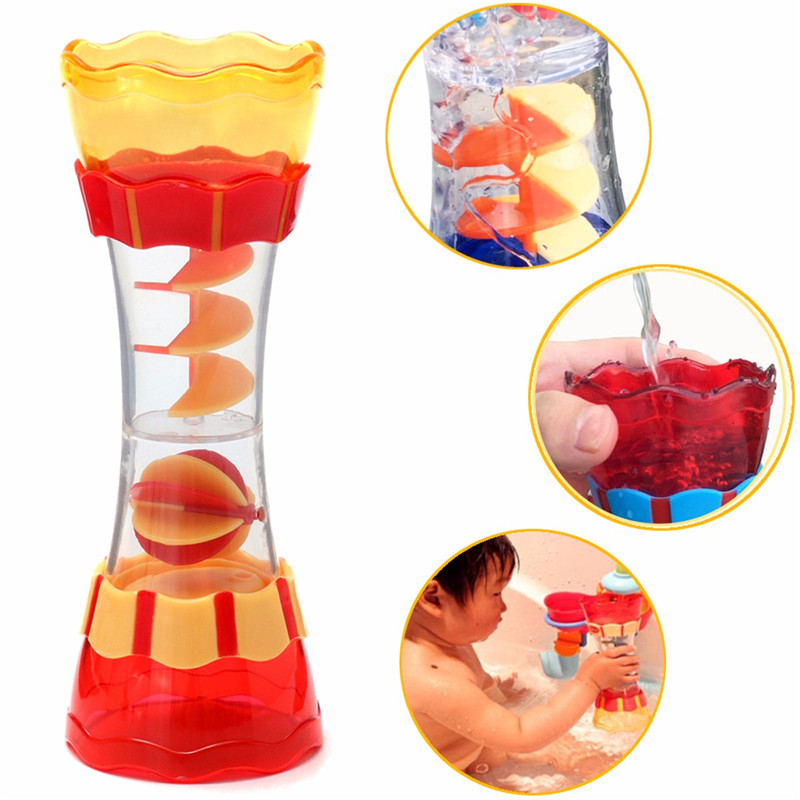 Toddler Kids Baby Plastic Bath Swim Developmental Toy Water Wand Cup Toys
