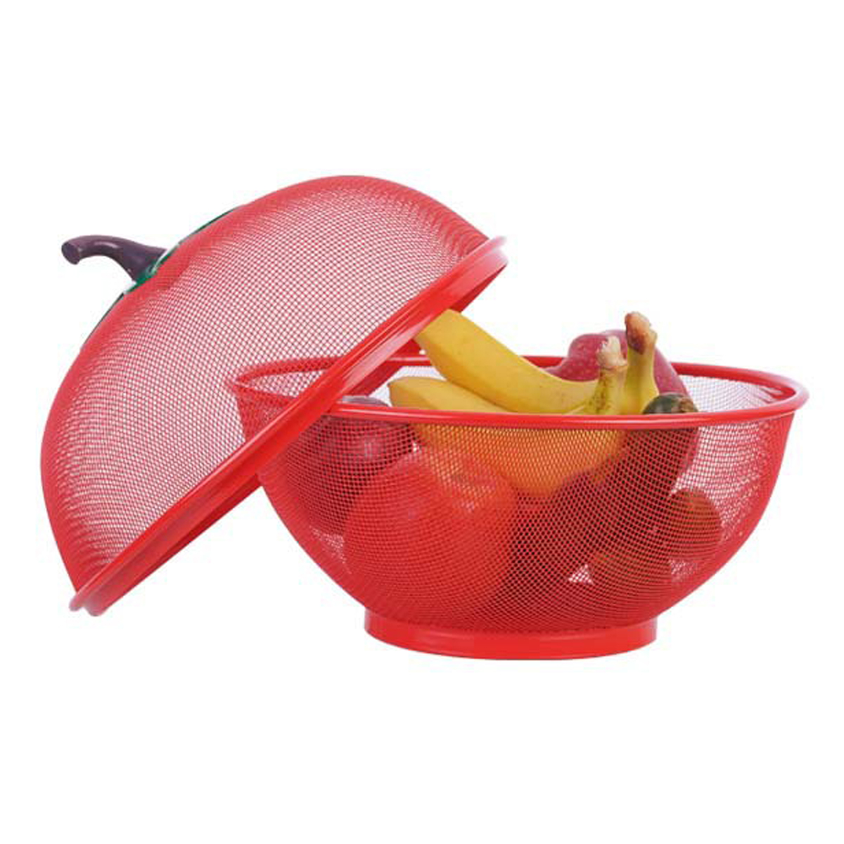 Apple Shape Mesh Fresh Fruits Storage Drain Basket Keep Flies Insects Out Storage Baskets Washing Vegetable Basket Filter Tools
