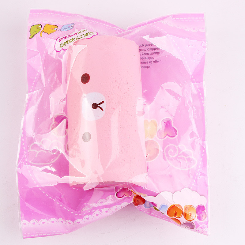 Squishy Jumbo Swiss Cake Roll 15cm Slow Rising Cute Kawaii Bear Cake Collection Gift Decor Toy