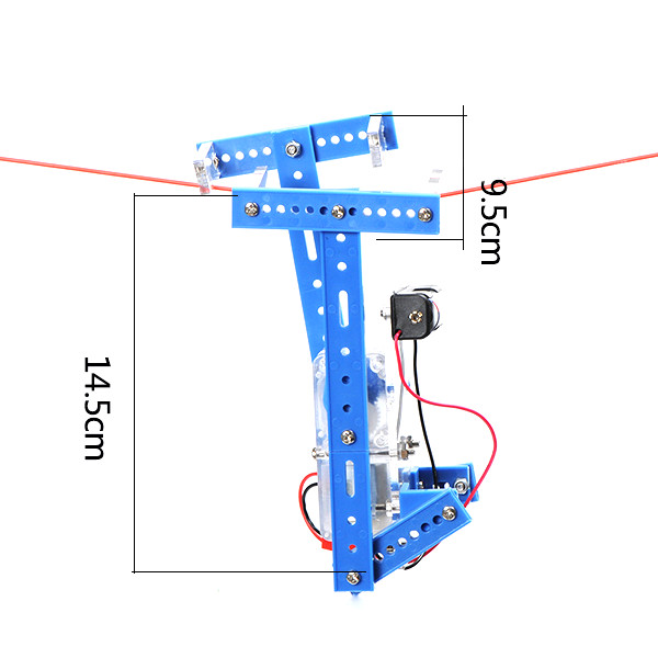 DIY Lanyard Climbing Robot Kit Handmade Toy Kit Assembly Material Package For Children
