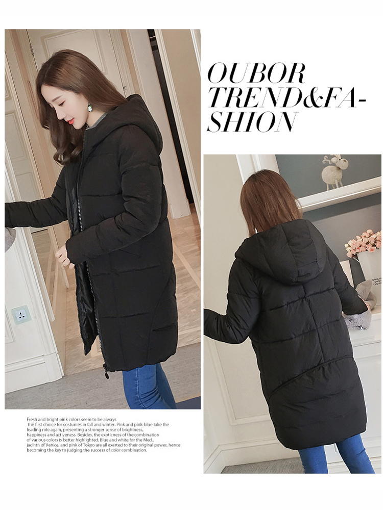 Winter Women Warm Thicken Cotton Hooded Coat