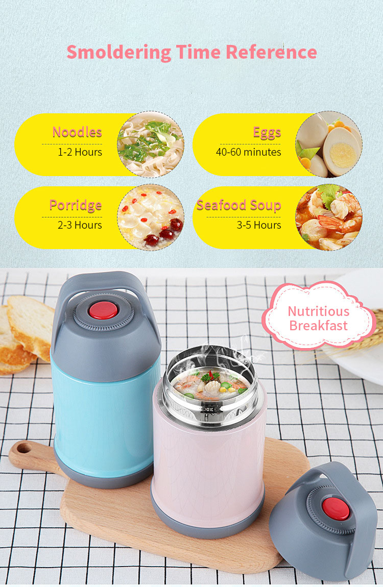 KCASA KC-BCH05 Portable Insulation Lunch Box Stainless Steel Thermal Bento Box Food Container