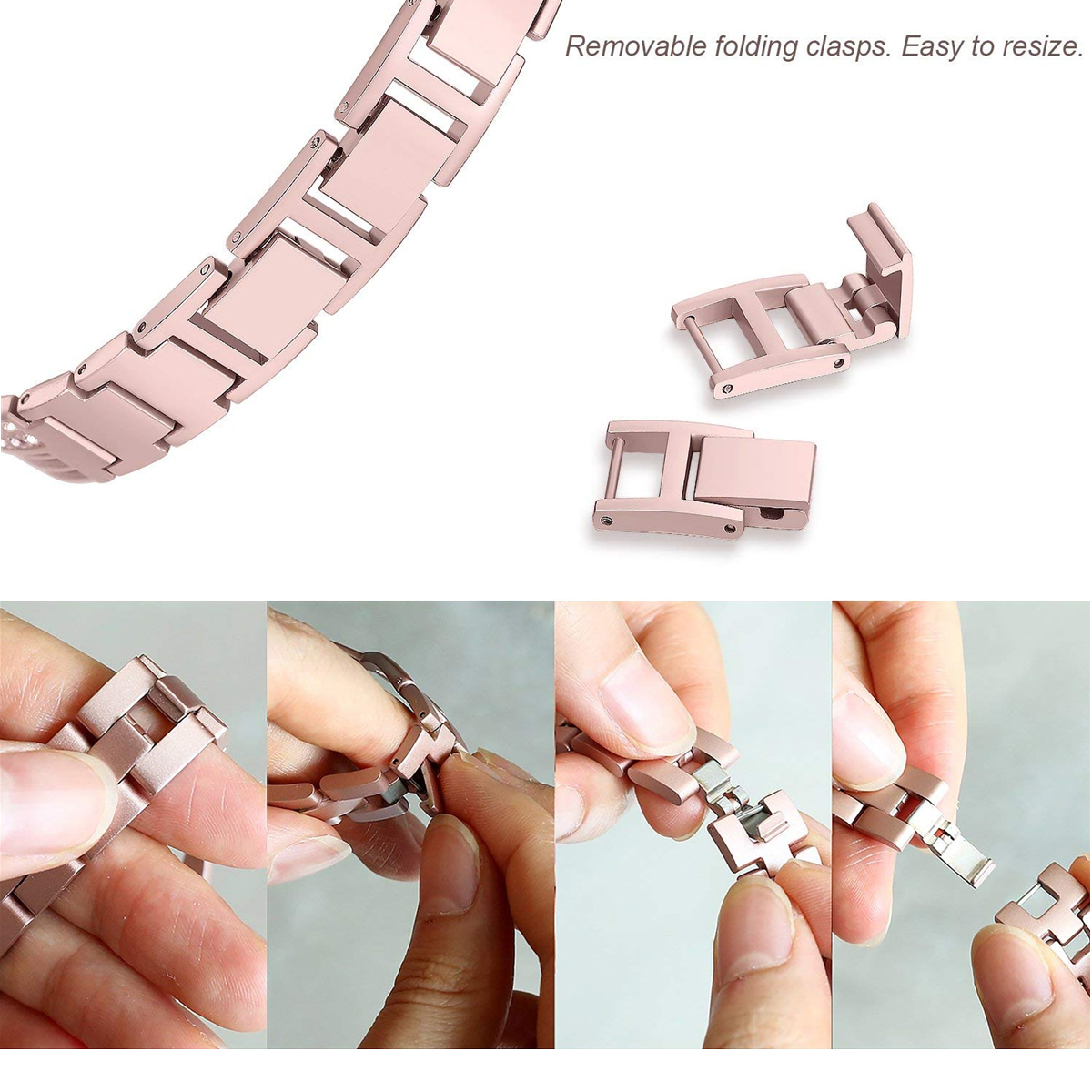 KALOAD Stainless Steel Replacement Watch Bracelet Band Strap Wristband For Fitbit Versa Smart Watch