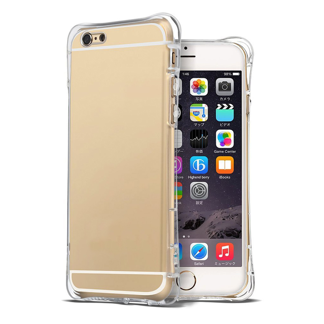 Hat Prince Crystal Air Cushion Anti Shock Protective Case With Dust Plug For iPhone 6 6S Apple 4.7
