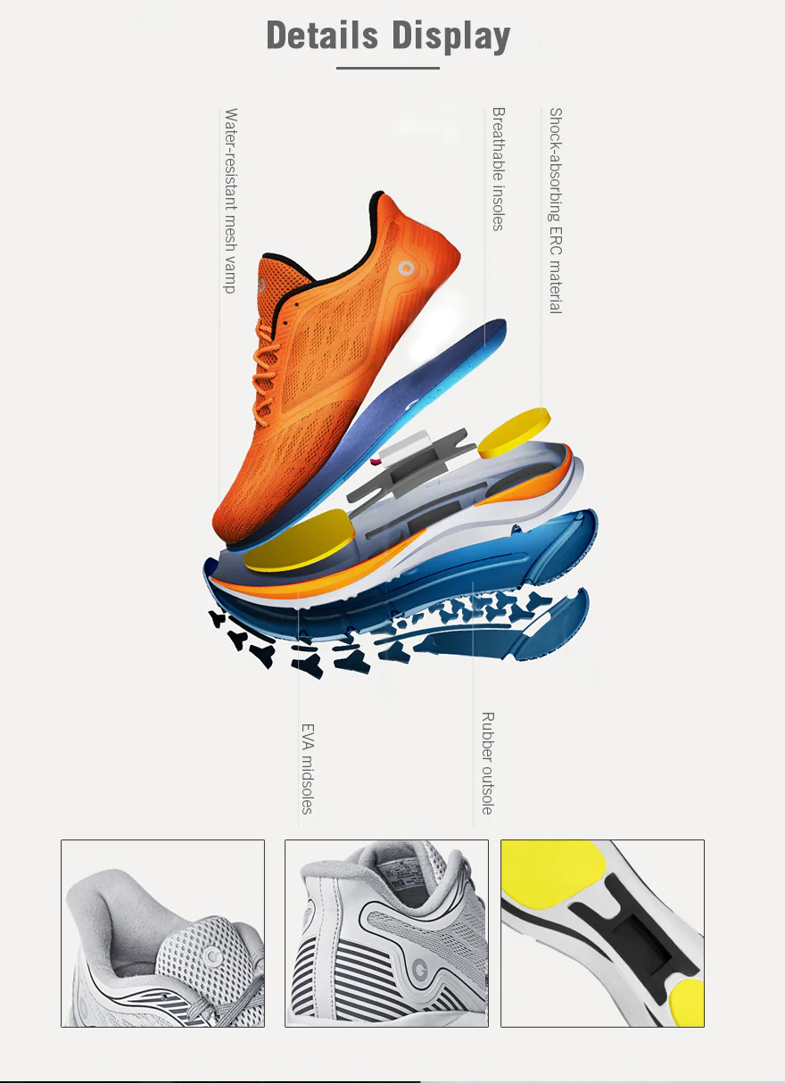 Amazfit Men Outdoor Light Shock-absorbing Smart Chip High Elasticity Sneakers Running Shoes From Xiaomi Youpin