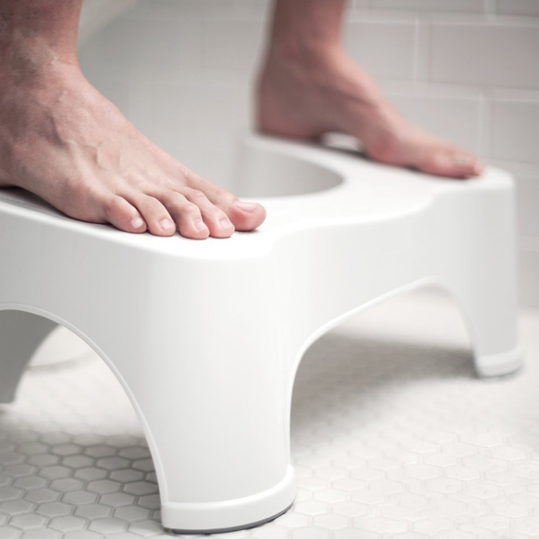 Honana BX-926 ABS Nonslip Bathroom Stool Prevent Constipation Toilet Footstool for Better Bowel Movements