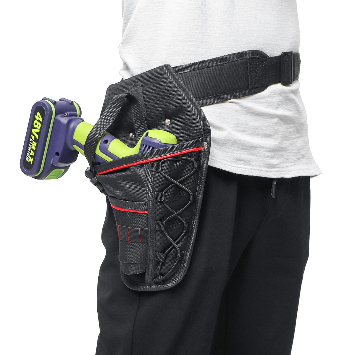 Electrician Waist Pocket Tools Belt Pouch Bag Drill Screwdriver Kit Tool Holder